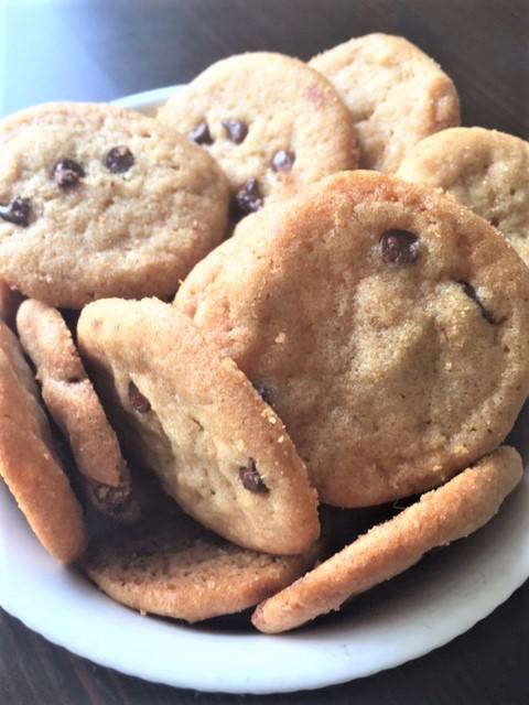 Crispy mini Chocolate Chip Cookies……